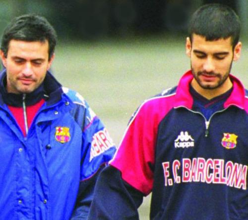 José Mourinho and Pep Guradiola