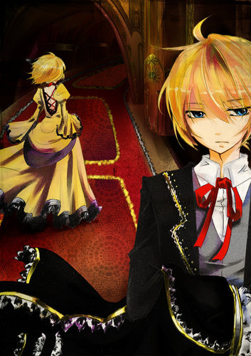 Rin und Len Kagamine Hintergrund probably with a mantilla, a bridesmaid, and a bouquet called Kagamine