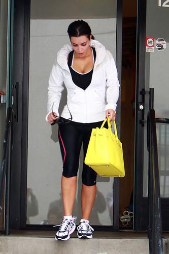 Kim Kardashian Leaving The Gym