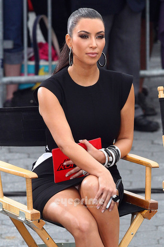 Kim Kardashian films 'Project Runway' in Battery Park, NY, June 23