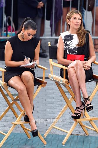 Kim Kardashian films 'Project Runway' in Battery Park, NY, June 23