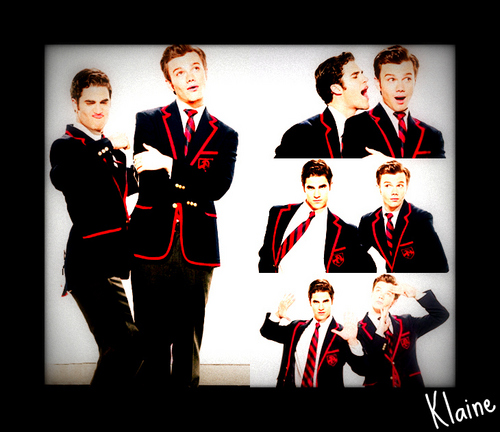 Kurt and Blaine wallpaper probably with a business suit and a kimono titled Klaine