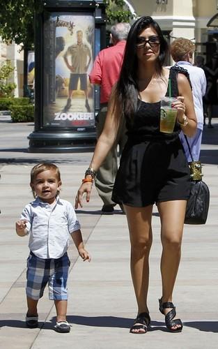 Kourtney Kardashian with Kendall Jenner and Mason in LA (June 25).