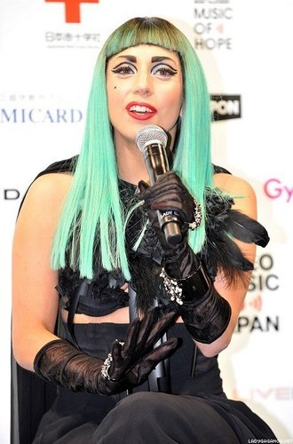 Lady Gaga at the 音乐电视 Video 音乐 Aid 日本 Press Conference in Tokyo