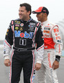 Lewis Hamilton & Tony Stewart F1 NASCAR Swap