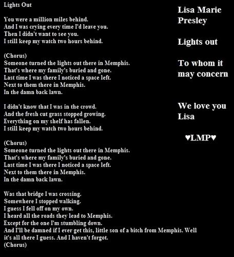 Lights out Lyrics