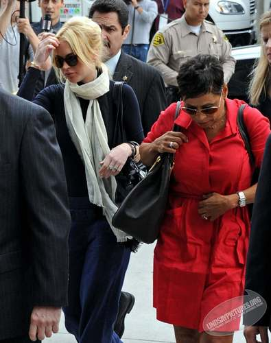 Lindsay Lohan Arriving For A Preliminary Hearing In Los Angeles
