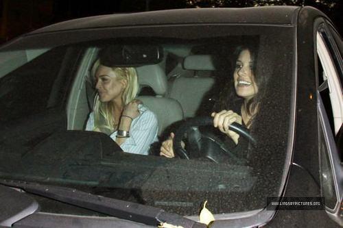 Lindsay Lohan Leaving chateau Marmont With Shenae Grimes