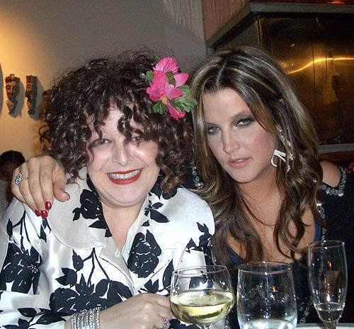 Photo of Lisa Marie Presley & her friend  Angela -