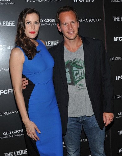 "Liv Tyler attends the Cinema Society & Grey ganso screening of ""The Ledge"""