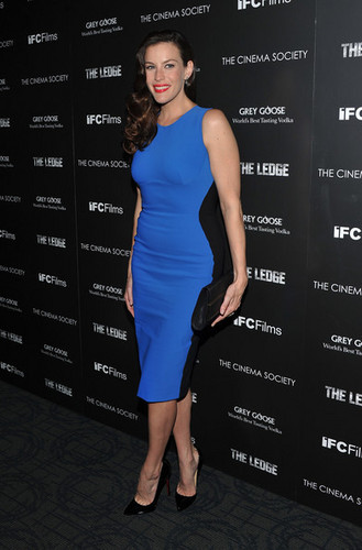 "Liv Tyler attends the Cinema Society & Grey ہنس screening of ""The Ledge"""