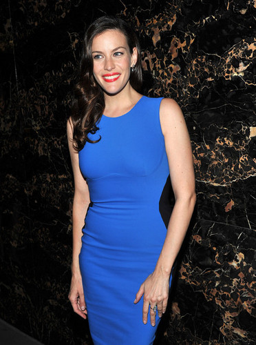 "Liv Tyler attends the after party for the Cinema Society & Grey बत्तख, हंस screening of ""The Ledge"""