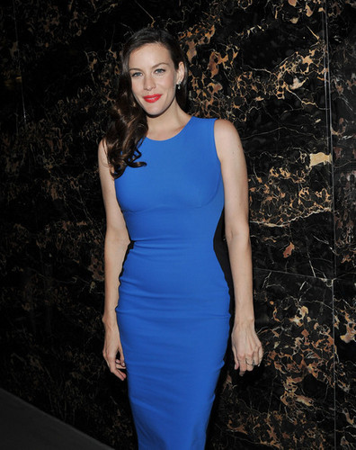"Liv Tyler attends the after party for the Cinema Society & Grey gans screening of ""The Ledge"""