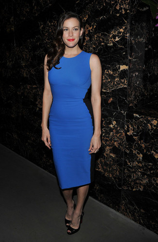 "Liv Tyler attends the after party for the Cinema Society & Grey ganso screening of ""The Ledge"""