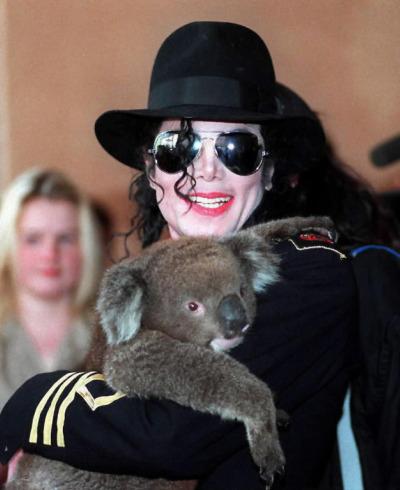 MJ with a koala