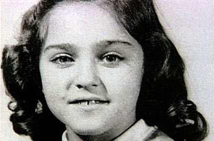 Madonna as a child