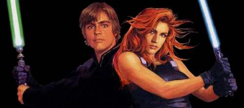 Mara Jade Skywalker wallpaper possibly with anime and a portrait called Mara and Luke