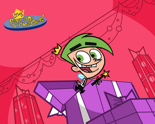 The Fairly OddParents karatasi la kupamba ukuta containing anime entitled Merry krisimasi Cosmo!