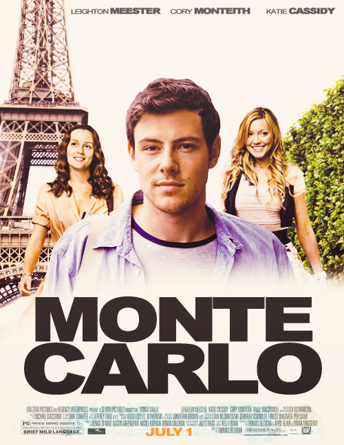 """New Cory Monteith """"Monte Carlo"""" poster!!:)"""