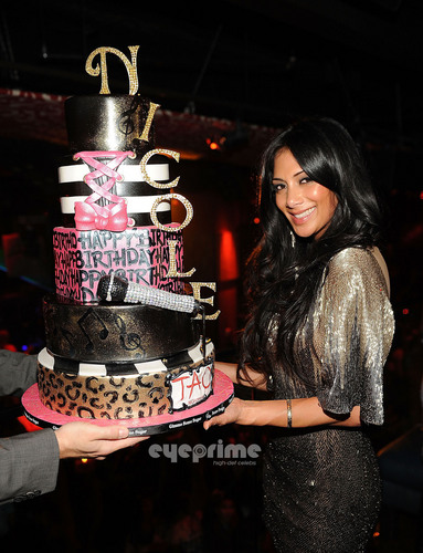 Nicole Scherzinger Celebrates Her Birthday At Tao Nightclub in Las Vegas, Jun 25