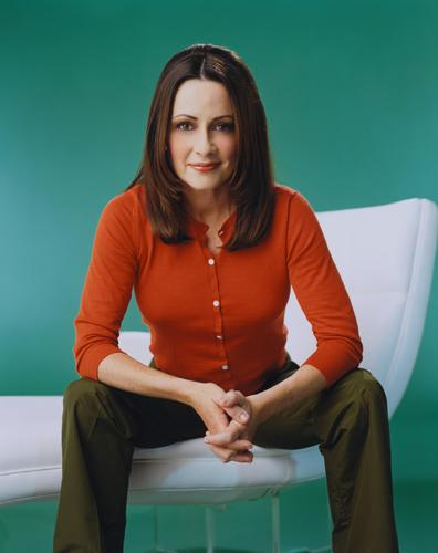 Patricia Heaton karatasi la kupamba ukuta probably with bare legs, a blouse, and a chemise titled Patricia Heaton