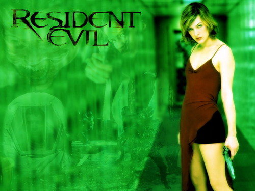 Resident Evil Movie پیپر وال with a bustier, بسٹیر and a portrait titled Resident Evil Movie