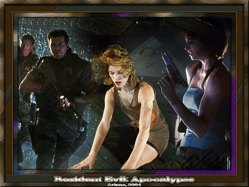 Resident Evil Movie wallpaper possibly containing a television receiver called Resident Evil Movie