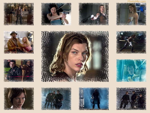 Resident Evil Movie wallpaper containing a portrait titled Resident Evil Movie