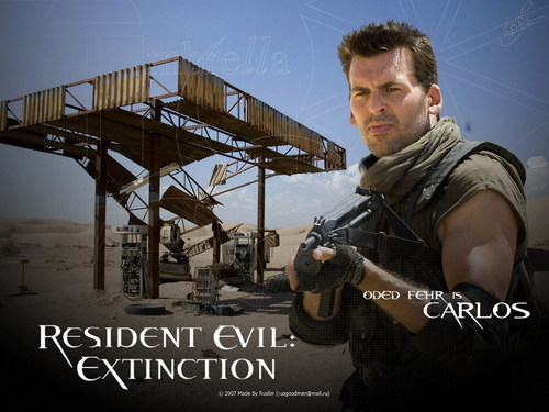 Resident Evil Movie 壁纸 probably containing a rifleman, a green beret, and a 街, 街道 titled Resident Evil Movie