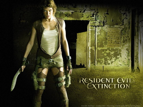 Resident Evil Movie wallpaper probably containing a hip boot called Resident Evil Movie