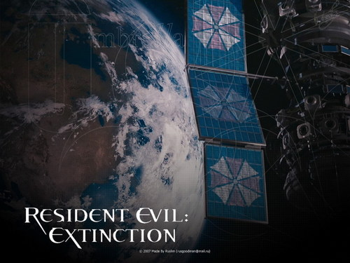 Resident Evil Movie پیپر وال probably with a sign and a business district entitled Resident Evil Movie