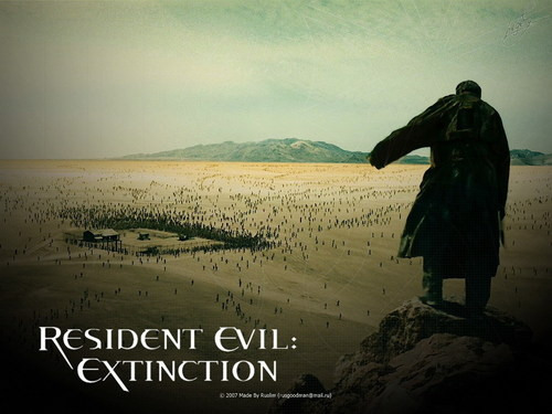 Resident Evil Movie 壁纸 with a sunset entitled Resident Evil Movie
