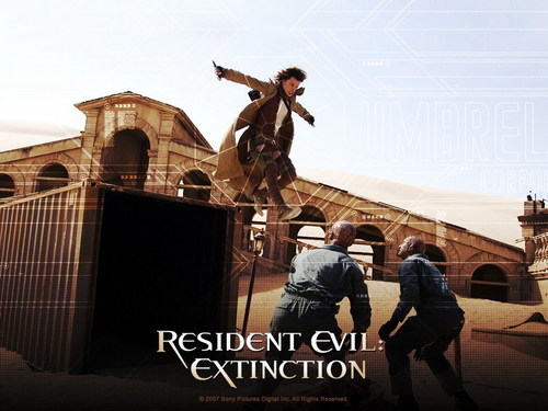 Resident Evil Movie 바탕화면 containing a 거리 called Resident Evil Movie
