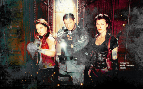 Resident Evil Movie wallpaper possibly with a sign called Resident Evil Movie