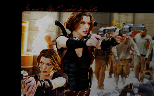 Resident Evil Movie wallpaper possibly containing anime titled Resident Evil Movie