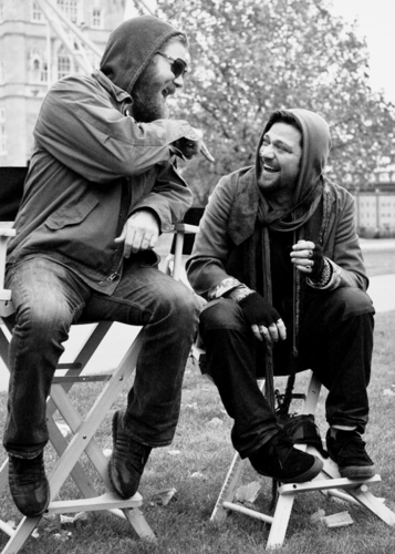 Ryan Dunn wallpaper probably containing a park bench entitled Ryan Dunn and Bam Margera