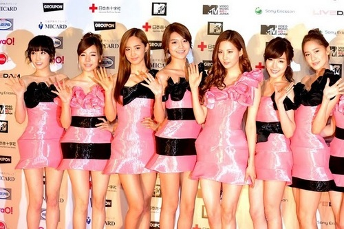 SNSD এমটিভি VMAJ Red Carpet