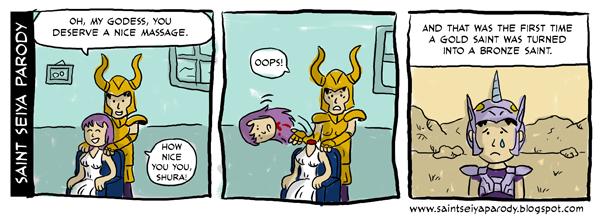 Sainr Seiya Parody - comic strips