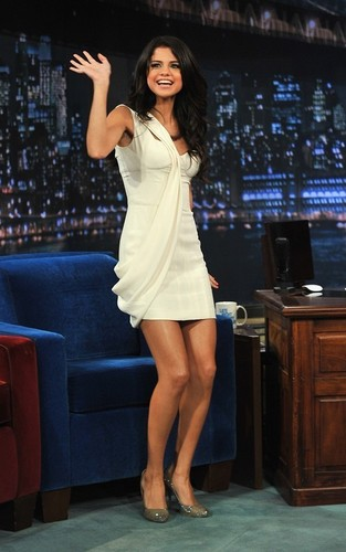 "Selena Gomez visiting ""Late Night with Jimmy Fallon"" (June 23)."