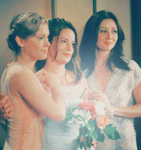 Prue Halliwell karatasi la kupamba ukuta containing a bridesmaid titled Shannen Doherty | ♥