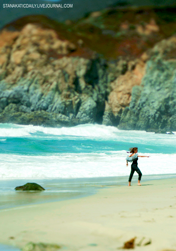 Stana Katic. It's from when she was filming Big Sur, playing Lenore Kandel