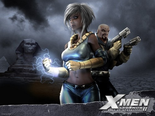 Storm and Bishop - x-men Wallpaper