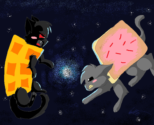 Nyan Cat Hintergrund titled Tac Nyan vs Nyan cat >:)