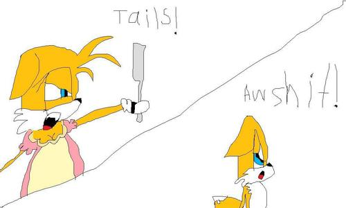 Tails' Ma-Ma Is Gonna Beat The-- Out Of Him