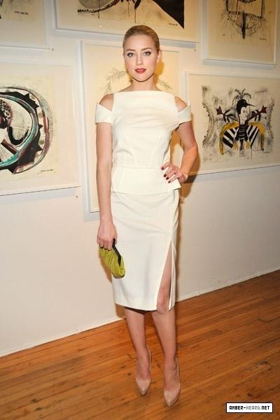 Amber Heard at Tasya Van Rees Private Viewing of