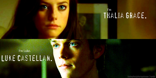 Thalia Grace and Luke Castellan wallpaper containing a portrait entitled Thalia/Luke