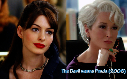 films fond d'écran with a portrait titled The Devil wears Prada 2006