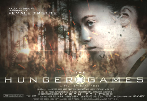 The Hunger Games fanmade movie poster - District 3 Tribute Girl