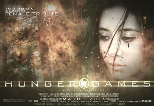 The Hunger Games fanmade movie poster - District 4 Tribute Girl