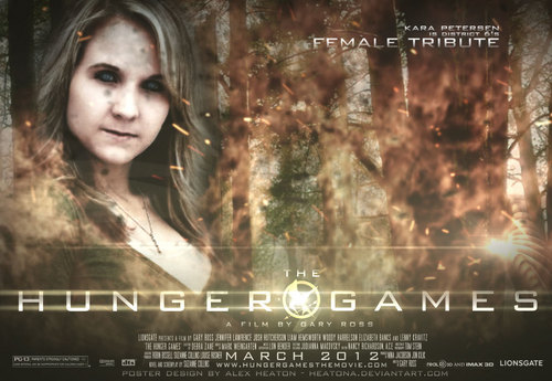 The Hunger Games fanmade movie poster - District 6 Tribute Girl